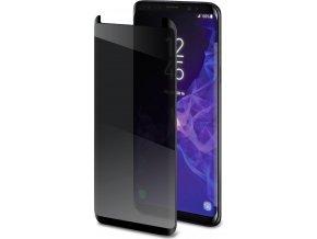 Ochranné tvrzené sklo CELLY Privacy 3D pro Samsung Galaxy S9 Plus (sklo do hran displeje), ztmavovací efekt, černé