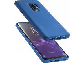 Ochranný silikonový kryt CellularLine SENSATION pro Samsung Galaxy S9 Plus, modrý