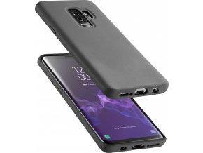 Ochranný silikonový kryt CellularLine SENSATION pro Samsung Galaxy S9 Plus, černý
