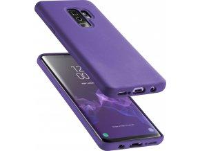 Ochranný silikonový kryt CellularLine SENSATION pro Samsung Galaxy S9 Plus, fialový