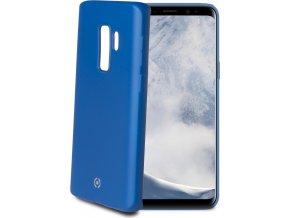 TPU pouzdro CELLY Softmatt pro Samsung Galaxy S9 Plus, matné provedení, modré