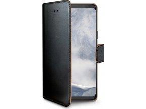 Pouzdro typu kniha CELLY Wally pro Samsung Galaxy S9 Plus, PU kůže, černé