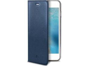 Pouzdro typu kniha CELLY Air Pelle pro Apple iPhone 7 Plus/8 Plus, pravá kůže, modré