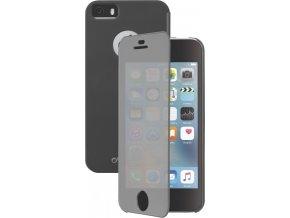 Pouzdro typu kniha Cellularline TOUCH s dotykovým čelním krytem pro Apple iPhone 5/5S/SE, černé