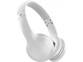Bezdrátová sluchátka CELLULARLINE AKROS, AQL® certifikace, extra basy, bílé
