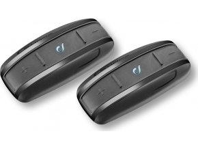 Bluetooth handsfree pro uzavřené a otevřené přilby CellularLine Interphone SHAPE, Twin Pack