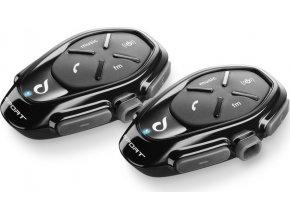 Bluetooth handsfree pro uzavřené a otevřené přilby CellularLine Interphone SPORT Twin Pack