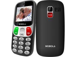 Tlačítkový telefon pro seniory Mobiola MB800 s velkými tlačítky a displejem