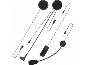 Sada náhradních dílů pro CellularLine Interphone F4S/F3S/F2S, mikrofon do uzavřených a otevřených přileb, sada uchycení