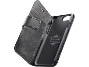 Prémiové kožené pouzdro typu kniha Cellulalrine Supreme pro Apple iPhone 7 Plus/8 Plus, černé