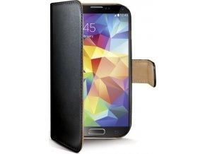 Pouzdro typu kniha CELLY Wally pro Samsung Galaxy S5 / S5 Neo, PU kůže, černé