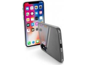 Ultratenký zadní kryt CellularLine ZERO pro Apple iPhone X, čirý