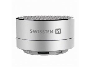 Bluetooth reproduktor SWISSTEN i-METAL, stříbrný