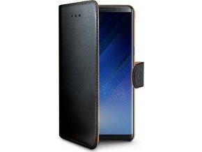 Pouzdro typu kniha CELLY Wally pro Samsung Galaxy Note 8, PU kůže, černé
