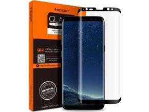 Spigen GLAS.tR FC, black - Samsung Galaxy S8+