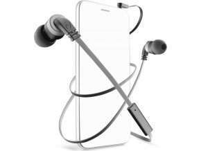 In-ear sluchátka CellularLine Mosquito s mikrofonem, 3,5 mm jack, headset, plochý kabel, černo-šedé
