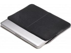 Decoded Leather Slim Sleeve, black - MacBook 12