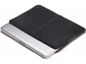 Decoded Leather Slim Sleeve, black- MacBook Pro 15