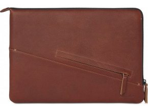 Decoded Leather Slim Sleeve, brown -MacBook Pro 13