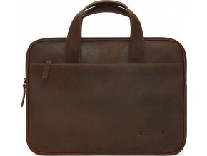 Decoded Waxed Slim Bag, brown -MacBook 12, 13, 15