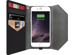 MightyPurse iPhone Charging Wallet, black