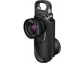 olloclip core lens + 2 cases, black/black - i7/i7+