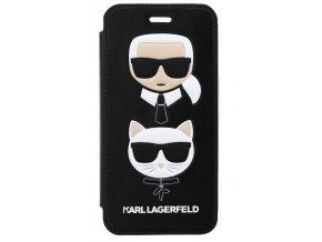 Pouzdro Karl Lagerfeld Choupette Book Black pro iPhone 7/8