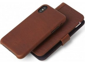 Decoded Leather 2in1 Wallet Case, brown - iPhone X