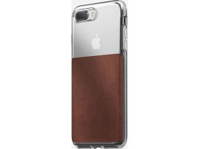 Nomad Clear case, rustic brown - iPhone 8+/7+