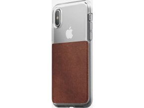 Nomad Clear case, rustic brown - iPhone X