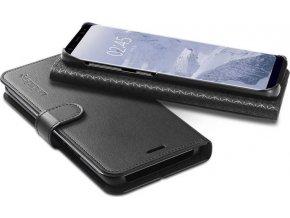 Spigen Wallet S, black - Galaxy S9+