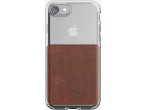 Nomad Clear case, rustic brown - iPhone 8/7