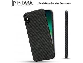 Pitaka Aramid case, black/grey - iPhone X