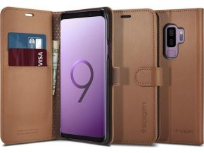 Spigen Wallet S, brown - Galaxy S9+