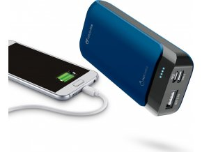 Prémiová powerbanka CellularLine PowerUp s Usb-C, 5200mAh, modrá