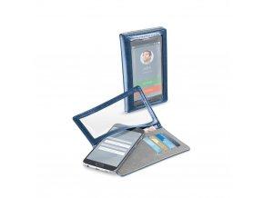 Univerzální pouzdro s peněženkou Cellularline TOUCH WALLET, modré