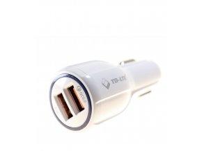 Autoadaptér TD-LTE 2x USB 3,1A bílý
