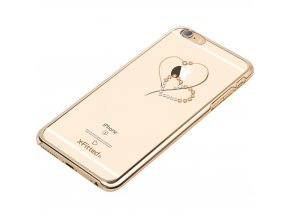 Kryt X-FITTED SWAROVSKI TELESTHES pro iPhone 6 plus / 6S plus, gold