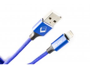 USB kabel TD-LTE Lightning pro Apple iPhone 5/5S/5C/SE a 6/6S/6 PLUS/6S PLUS/7/7 Plus/8/8 Plus/X a iPad, Metal Blue