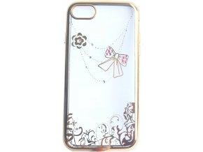 Kryt Crystal Mašle pro iPhone 7/8 - Gold