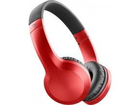 Bezdrátová sluchátka CELLULARLINE AKROS, AQL® certifikace, extra basy, červené,rozbaleno