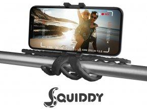 """Flexibilní držák s přísavkami CELLY Squiddy pro telefony do 6,2"""", černý"""