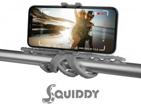 """Flexibilní držák s přísavkami CELLY Squiddy pro telefony do 6,2"""", šedý"""