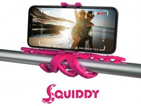 """Flexibilní držák s přísavkami CELLY Squiddy pro telefony do 6,2"""", růžový"""