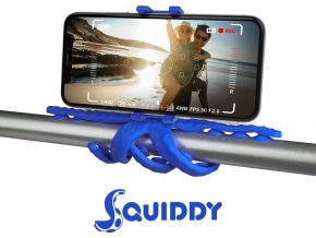 """Flexibilní držák s přísavkami CELLY Squiddy pro telefony do 6,2"""", modrý"""