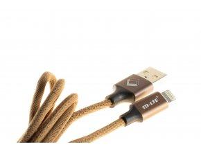 USB kabel TD-LTE Lightning pro Apple iPhone 5/5S/5C/SE a 6/6S/6 PLUS/6S PLUS/7/7 Plus/8/8 Plus/X a iPad, Brown