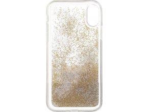 Kryt Karl Lagerfeld Peek and Boo TPU Glitter pro iPhone X / XS, Gold