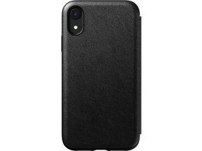 Nomad Folio Leather case, black - iPhone XR
