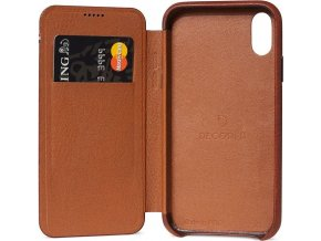 Decoded Leather Slim Wallet, brown - iPhone XS Max