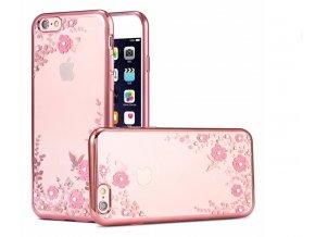 Kryt KISSCASE Crystal Flower pro iPhone 5/5S/SE, rose